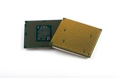 Jednostka centralna dla komputeru procesor w g?r? zdjęcia royalty free