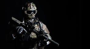 Jednostka specjalna żołnierz Zdjęcia Stock