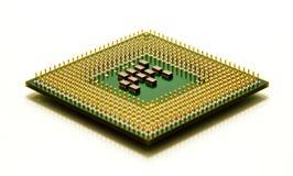 jednostki centralnej odosobniony mikroprocesoru biel Zdjęcia Stock
