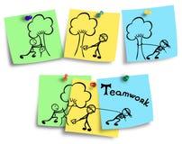 Jednostki i drużyny pracy wydajności rysunek Zdjęcia Stock