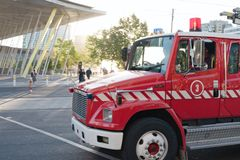 Jednostki straży pożarnej ciężarówka Zdjęcia Stock