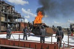 Jednostki straży pożarnej szkolenie Obrazy Royalty Free