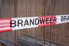 Jednostki straży pożarnej taśma w holandiach obraz royalty free