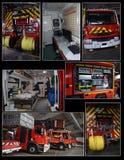 Jednostki straży pożarnej wyposażenie Obraz Royalty Free