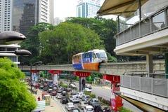 Jednoszynowy dworzec Kuala Lumpur Obraz Royalty Free