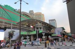 Jednoszynowy stacyjny Kuala Lumpur Malezja obrazy royalty free