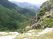 Jedurdouz-Klippe in Shushi Stockbild