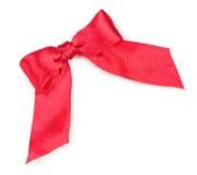 Jedwab czerwony tasiemkowy łęk Obraz Royalty Free