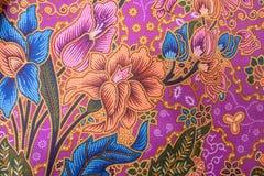 Jedwab jedwabniczej tkaniny dzianiny wzoru tekstury deseniowy Tajlandzki bezszwowy tło Obrazy Royalty Free