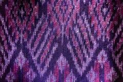 Jedwab jedwabniczej tkaniny dzianiny wzoru tekstury deseniowy Tajlandzki bezszwowy tło Zdjęcia Stock