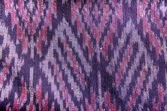 Jedwab jedwabniczej tkaniny dzianiny wzoru tekstury deseniowy Tajlandzki bezszwowy tło Obraz Royalty Free