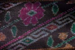 Jedwab jedwabniczej tkaniny dzianiny wzoru tekstury deseniowy Tajlandzki bezszwowy tło Obraz Stock