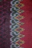 Jedwab jedwabniczej tkaniny dzianiny wzoru tekstury deseniowy Tajlandzki bezszwowy tło Obrazy Stock