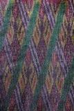 Jedwab jedwabniczej tkaniny dzianiny wzoru tekstury deseniowy Tajlandzki bezszwowy tło Zdjęcia Royalty Free