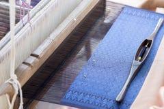 Jedwabiu sznurek robić domowej roboty tekstylnemu Tajlandzkiemu wzorowi projektować z wea zdjęcia stock
