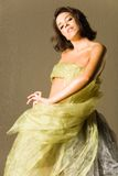 jedwabna piękna kobieta Fotografia Stock