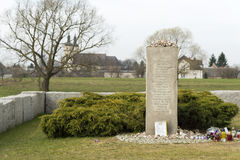 JEDWABNE - APRIL 6: Monument of the Jewish massacre in Jedwabne, Poland on April 6, 2014 Stock Photo