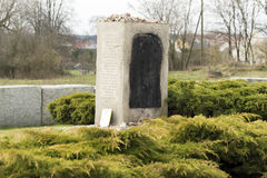 JEDWABNE - APRIL 6: Monument of the Jewish massacre in Jedwabne, Poland on April 6, 2014 Royalty Free Stock Image