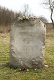 JEDWABNE - APRIL 6: Monument of the Jewish massacre in Jedwabne, Poland on April 6, 2014 Stock Photography