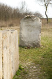 JEDWABNE - APRIL 6: Monument of the Jewish massacre in Jedwabne, Poland on April 6, 2014 Royalty Free Stock Images