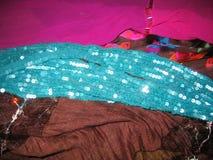 jedwabnicza szalik tkanina zdjęcie stock