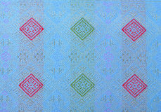 Jedwabnicza tkanina w Tajlandzkim wzorze dla tła Zdjęcia Royalty Free