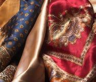 Jedwabnicze tkaniny Zdjęcie Stock
