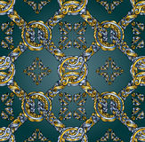 Jedwabniczej mody bezszwowy wzór Zdjęcie Royalty Free