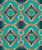 Jedwabniczej mody bezszwowy wzór Fotografia Royalty Free
