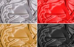 Jedwabniczej tkaniny tła Fotografia Stock