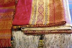 Jedwabniczej tkaniny wzór Zdjęcie Royalty Free