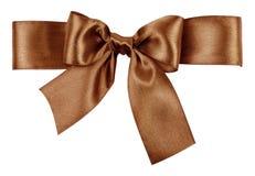 Jedwabniczy brown łęk Obraz Stock