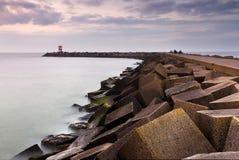 Jedwabniczy jetty Zdjęcia Royalty Free