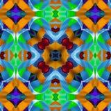 Jedwabniczy kolorowy faborku tło dla scrapbook, Kolaż z lustrzanym odbiciem bezszwowy wzoru Obrazy Royalty Free