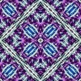 Jedwabniczy kolorowy faborku tło dla scrapbook, odgórny widok Kolaż z lustrzanym odbiciem Zdjęcia Royalty Free