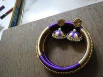 Jedwabniczy niciany jewellery obraz royalty free