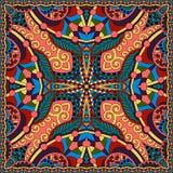 Jedwabniczy szyi chustki lub szalika kwadrata wzór Zdjęcia Royalty Free