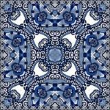 Jedwabniczy szyi chustki lub szalika kwadrata wzoru projekt Obrazy Stock