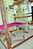 Jedwabniczy tkactwa kanchipuram obraz stock
