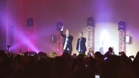 Jedward på Blackpool stolthet 2015 Arkivfoton