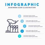 Jedynowładztwo, despotyzm, dominacja, interes, Lobbuje Kreskową ikonę z 5 kroków prezentacji infographics tłem ilustracji