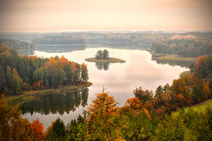 Jedzelewo Lake in Stare Juchy Royalty Free Stock Photos