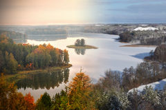 Jedzelewo Lake in Stare Juchy 2 Stock Photography