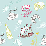 jedzenia bezszwowy deseniowy royalty ilustracja