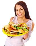 jedzenia fast - kobieta obrazy royalty free