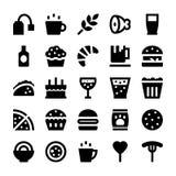 Jedzenia i napojów Wektorowe ikony 4 ilustracja wektor