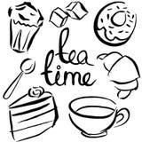 Jedzenia i napojów wzór Obrazy Stock