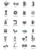 Jedzenia & napoju ikony Zdjęcia Royalty Free