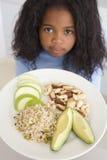 jedzenia owoców orzechów dziewczyny ryżu young kuchenne Obraz Royalty Free