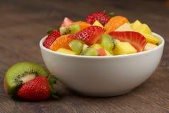 jedzenia winogron owocowy pomarańczy wegetarianin porcelanowa sałatkę Zdjęcia Royalty Free
